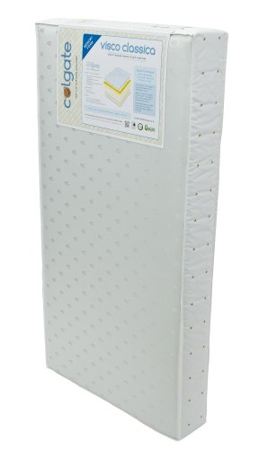 Colgate Visco-Classica Dual Firmness Foam Crib Mattress With Memory Foam, Cloth And Vinyl Cover