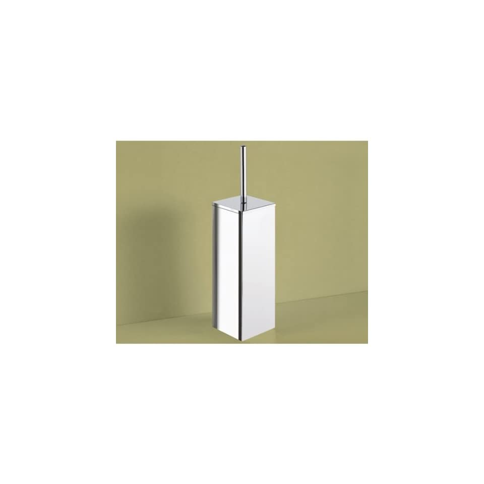 13 Square Polished Chrome Toilet Brush Holder 6933 13