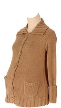 Lilo Maternity Button Down Collar Sweater