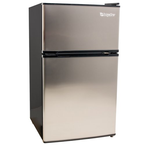 Check Out This EdgeStar 3.1 Cu. Ft. Energy Star Fridge/Freezer - Stainless Steel