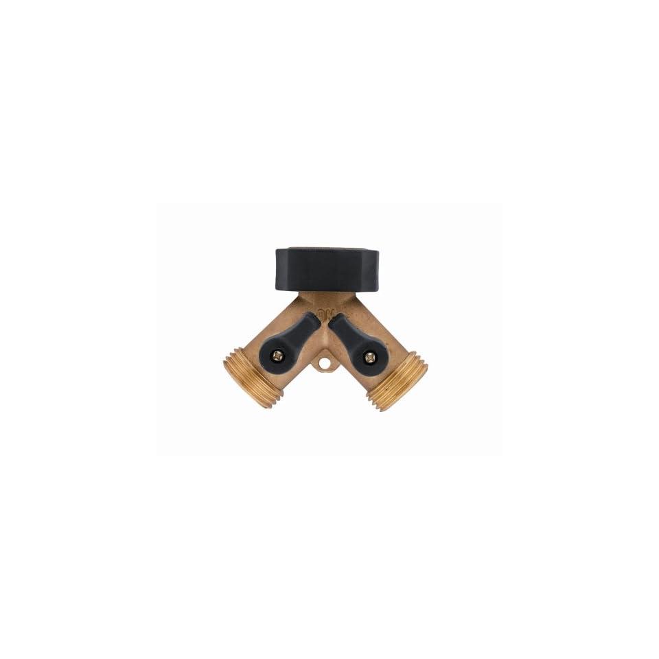 Orbit 58248 Brass Hose Y Connector with Shut Off Valves
