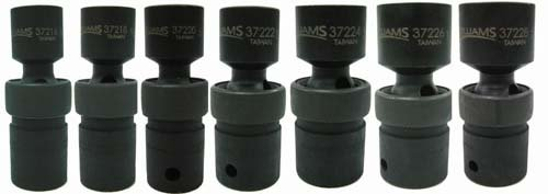 Jh Williams 37918 7-Piece 1/2-Inch Drive Universal 6 Point Impact Socket Set