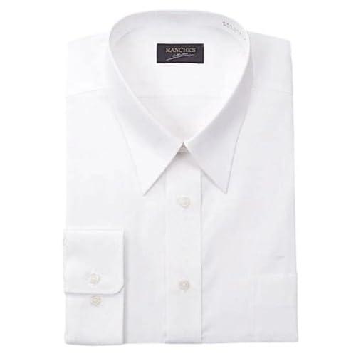 (マンチェス) MANCHES レギュラーカラー長袖シャツ 5L ホワイト
