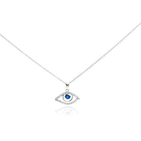 925 CZ Evil Eye Necklace
