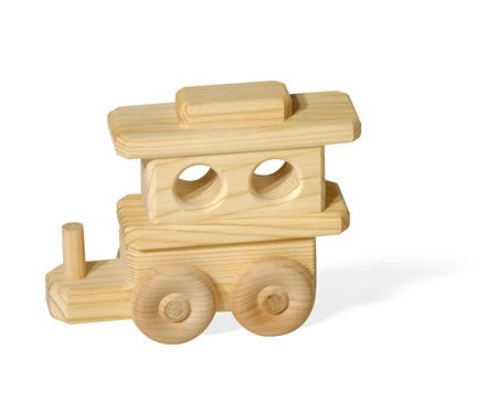 DoodleTown Toys - Caboose for Name Train, Made in USA