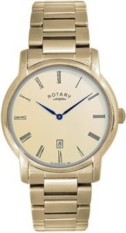 Rotary Rotary Gents Gold Plated Champagne Dial Watch GB02581/09