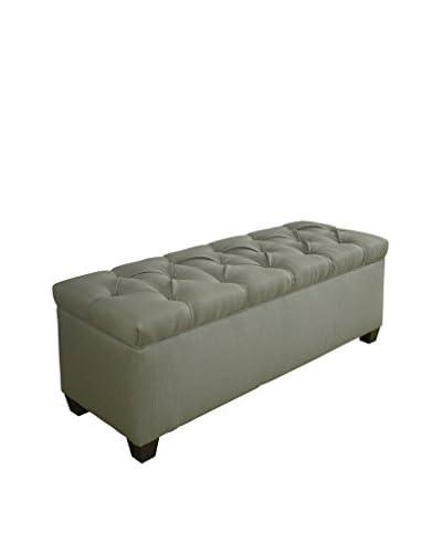 MJL Furniture Sole Secret Small Upholstered Shoe Storage Bench, Green