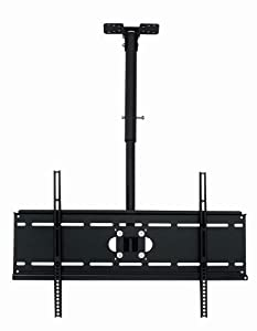 "Mount World 1133 Adjustable Tilting Ceiling Mount for 32""-60"" LCD LED Plasma for Dynex Insignia Sylvania Sanyo Magnavox Westinghouse Olevia SONY Sanyo Panasonic Samsung LG SHARP Vizio (Height adjustment from 23"" to 39"")"