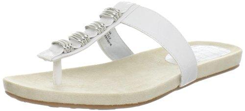 Bandolino Women's Shakethat Thong Sandal,White,7 M US
