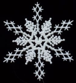White 8-inch Snowflake Christmas Ornaments