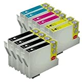 10 Pack of Epson Compatible printing Ink toner Cartridges: 4 Black for TO691/TO681 & 2 Cyan for TO692/TO682, 2 Magenta for TO693/TO683, 2 Yellow for TO694/TO684 For Durabrite ultra Epson Stylus CX and More