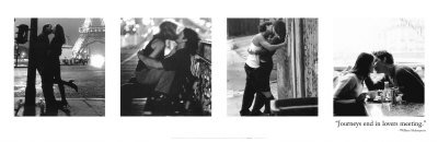 Kiss Quartet Simpson Lovers Romantic Photography Poster 12 x 36 inches