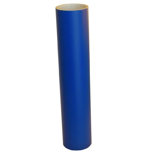 Vinyl Oasis Craft & Hobby Vinyl - Matte Traffic Blue W/ Removable Adhesive - 12 In. X 10 Ft. Roll
