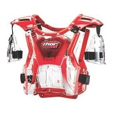 2013 Thor Youth Quadrant Protector (CLEAR/RED)