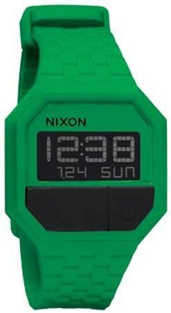 Nixon Rubber Re Run Watch Green One Size