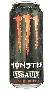 16 Pack - Monster Assault Energy Drink - 16oz.