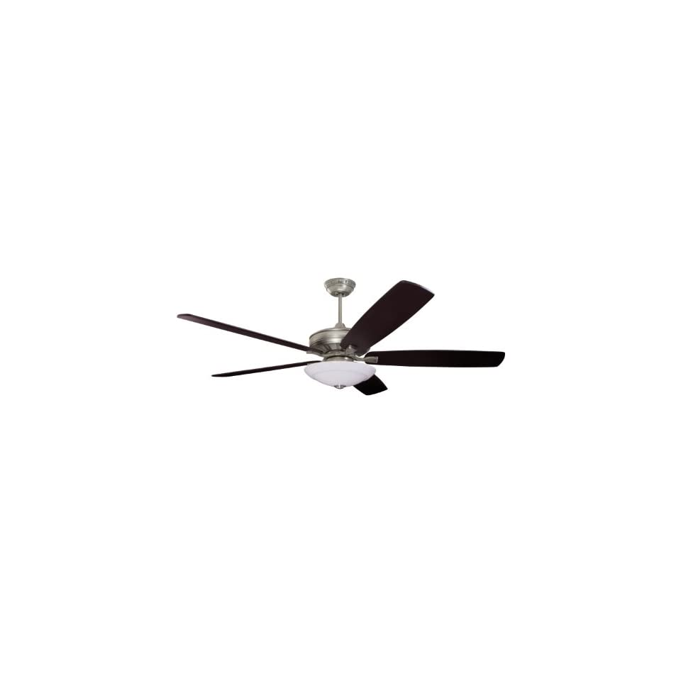 Emerson Ceiling Fans CF788AP Carrera Grande Eco Indoor Outdoor Ceiling Fan With 6 Speed Wall Control, Energy Star And Damp Rated, Blades Sold Separately, Light Kit Adaptable, Antique Pewter Finish
