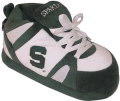 NCAA Michigan State Spartans Unisex Green Sneaker Slippers (Large) at Amazon.com