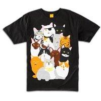 Enjoi Cat Collage T-Shirt - Men's ( sz. XL, Black )