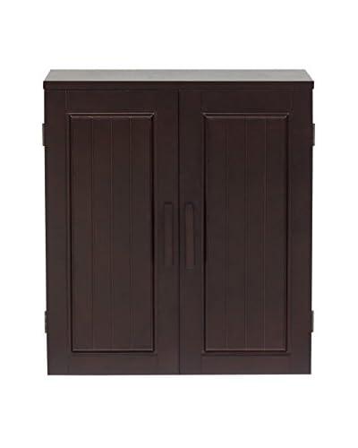 Elegant Home Fashions Catalina Wall Cabinet, Dark Espresso