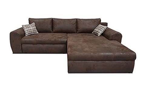 Sofá de esquina de sofá con la cama Oxford en función de la Big XXL sofá cama 01351