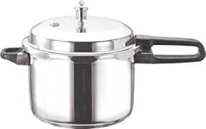 Vinod V-8L Stainless Steel Sandwich Bottom Pressure Cooker, 8-Liter from Gandhi - Appliances