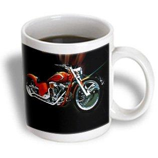 3Drose Mug_80395_2 Picturing Orange Harley Davidson Ceramic Mug, 15-Ounce