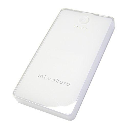 MIWAKURA/ミワクラ モバイルバッテリー POWER BANK SAKURA 「桜」 大容量5200mAh/iPhone5S・5C・4S/iPad Air/Xperia/Galaxy/Android/スマホ/携帯ゲーム機/Wi-Fiルータ/その他USB充電製品対応/6種類の充電コネクタセット/充電/充電器/コンパクト/ポータブル  MPB-5200 (ホワイト)