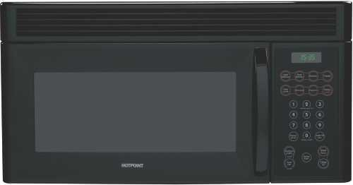 Hotpoint RVM1535DMBB 1.5 Cu. Ft. Over the Range Microwave Oven - Black