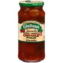 Giuliano Specialty Sweet Smoky Chipotle Pickles 16 OZ (Pack of 6)