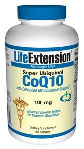 Life Extension Super Ubiquinol CoQ10 with Enhanced Mitochondrial Support 100 mg, 60 softgels ( Multi-Pack)