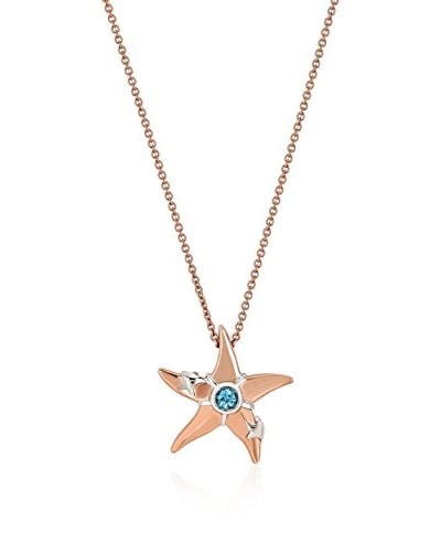 Divas Diamond Set catenina e pendente Blue Topaz Starfish Oro