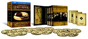 The Lord of the Rings (15 Discs) All 3 Movies Extended Edition Blu Ray Box Set Film Collection: The Fellowship of the Ring / The Two Towers / The Return of the King + Extras + Featurettes