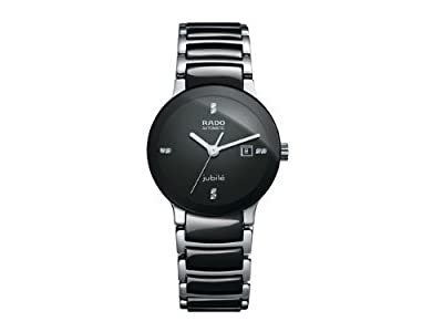 Rado Centrix Black Dial Ceramic SS Automatic Ladies Watch R30942702