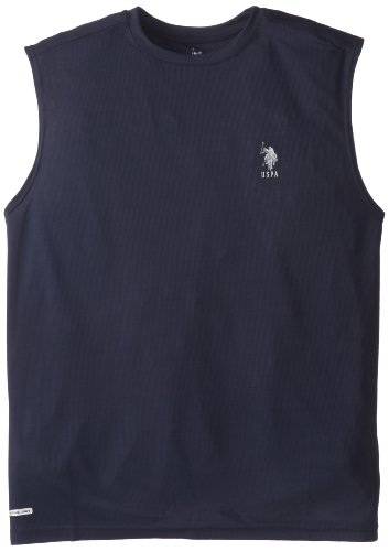 U.S. Polo Assn. Men'S Core Cage Mesh Sleeveless Top, Classic Navy, Xx-Large