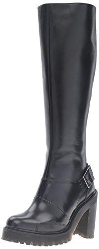 Dr.Martens Womens Lyanna Polished Buttero Black Leather Boots 41 EU