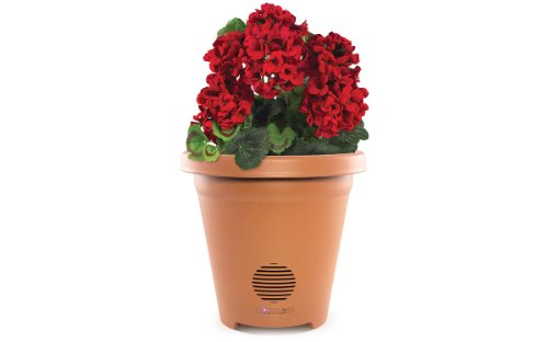Ion Planter Speaker Wireless Outdoor Speaker With Weather-Resistant Design And Integrated Drainage - Speakers - Retail Packaging - Clay