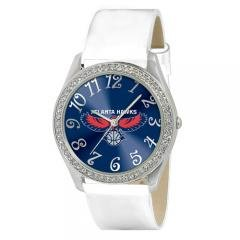 Atlanta Hawks NBA Glitz Feminine White Watch Bracelet - Ladies Sports Fashion Jewelry by NBA