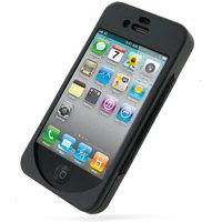iPhone4S & 4 Metal Hard Case - Open Screen Design - Black - PDair