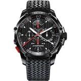 Chopard Superfast Split Second Black Dial Chronograph Black PVD Steel Rubber Mens Watch 168542-3001
