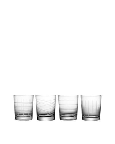 Fifth Avenue Crystal Set of 4 Medallion Old-Fashioned Glasses, 16-Oz.