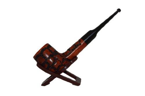 Italian Briar Classic Tiger Tobacco Straight Stem Pipe By F.e.s.s