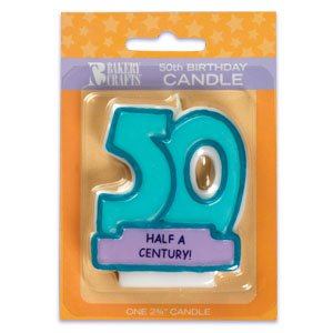Oasis Supply 50th Birthday Candles, 2.75-Inch