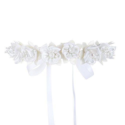 FAYBOX Flower Girls Elegant Headband Hair Wreath Floral Garland Photography Wedding Accessories
