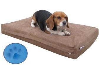 Small Medium Orthopedic Memory Foam Waterproof Dog Cat Bed With Rewashable Microsuede Brown Cover