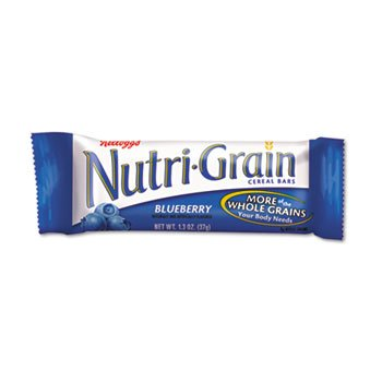 6 Pack Nutri-Grain Cereal Bars, Blueberry, Indv Wrapped 1.3Oz Bar, 16 Bars/Box By Keebler (Catalog Category: Office Maintenance, Janitorial & Lunchroom / Food & Beverage)