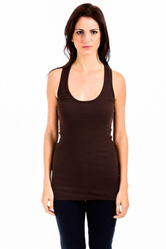 Active Basic Racerback Tank in Brown
