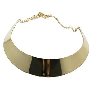 World Pride Fashion Mirror Finish Choker Necklace Collar (Gold Tone Plated)
