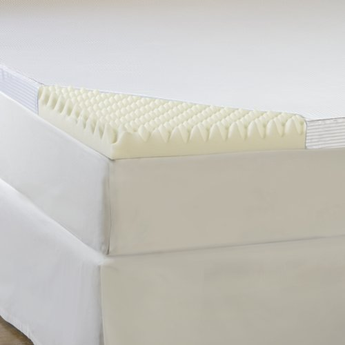 Hotel Comfort 4-Inch Comfort Loft Memory Foam Topper With Poly Silk Cover, Queen front-158898