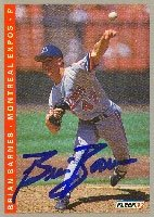 Brian Barnes Montreal Expos 1993 Fleer áAutographed Hand Signed Trading Card. by Hall+of+Fame+Memorabilia